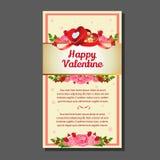 Valentinsgrußkartenliebe Stockbild