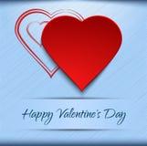 Valentinsgrußkartenschablone Lizenzfreies Stockfoto