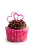 Valentinsgrußkleiner kuchen Stockbild