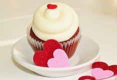 Valentinsgrußkleiner kuchen Lizenzfreie Stockfotografie