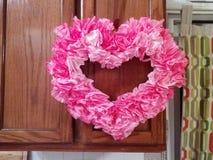 Valentinsgrußkranz stockbilder