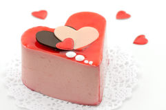 Valentinsgrußkuchen Stockbild