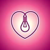 Valentinsgrußlampe Lizenzfreie Stockbilder