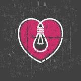 Valentinsgrußlampe Lizenzfreies Stockfoto