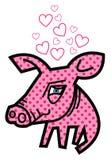 Valentinsgrußliebe piggy Lizenzfreie Stockfotos