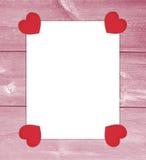 Valentinsgrußliebesbrief mit Herzen Stockbild