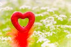 Valentinsgrußliebessymbol Stockfoto