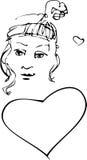 Valentinsgrußmädchen Stockfoto