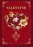 Valentinsgrußmit Blumenaufwendiges Lizenzfreie Stockbilder