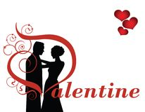 Valentinsgrußpaare lizenzfreie abbildung