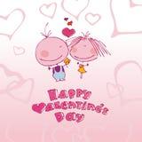 Valentinsgrußpaare in der Liebe. Stockfotografie