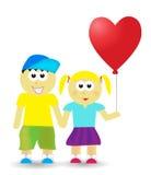 Valentinsgrußpaarhintergrund stock abbildung