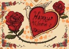 Valentinsgrußplakat Lizenzfreie Stockfotografie
