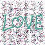 Valentinsgrußplakat ` Liebe ` Lizenzfreie Stockfotografie