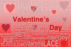 Valentinsgrußpostkarte Lizenzfreies Stockfoto