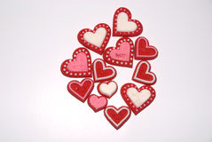 Valentinsgrußsüßigkeit auf weißem getrenntem Hintergrund Lizenzfreie Stockbilder