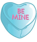 Valentinsgrußsüßigkeiten blau stock abbildung