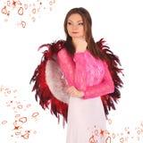Valentinsgrußschönheitsmädchen mit Winden Stockfotos
