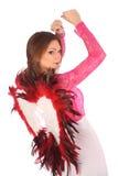 Valentinsgrußschönheitsmädchen mit Winden Lizenzfreie Stockfotografie