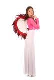 Valentinsgrußschönheitsmädchen mit Winden Stockfoto
