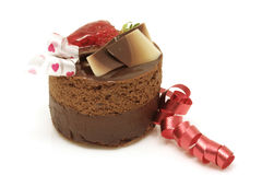 Valentinsgrußschichtkuchen lizenzfreie stockfotografie