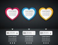 Valentinsgrußtag Herzen des roten und Weißbuches Abstrakte 3D digitale Illustration Infographic Stockfotografie