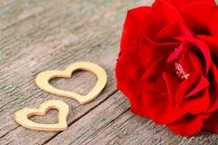 Valentinsgrußtag im Romance mit Rosafarbenem und Herzen Lizenzfreies Stockbild