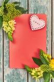 Valentinsgrußtag mit Herzen Lizenzfreie Stockbilder