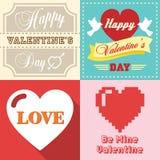 Valentinsgrußtag typografisch Lizenzfreie Stockfotos
