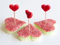 Valentinsgrußtagesaperitif lizenzfreies stockbild