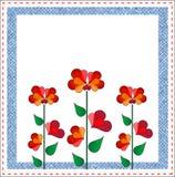 Valentinsgrußtagesblumenauslegung Stockbilder