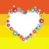 Valentinsgrußtagesblumenhintergrund mit Innerem. Lizenzfreie Stockbilder