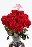 Valentinsgrußtagesblumenstrauß stockbilder