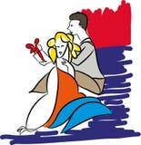 Valentinsgrußtagesgeschenkbox Lizenzfreie Stockfotografie