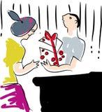 Valentinsgrußtagesgeschenkbox Stockfotos