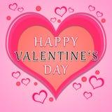 Valentinsgrußtagesgruß lizenzfreie stockfotografie