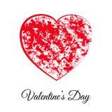 Valentinsgrußtagesgutschein des roten Herzens glücklicher Lizenzfreie Stockfotografie