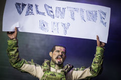 Valentinsgrußtageshalt die Kriegshintergründe Lizenzfreie Stockfotografie