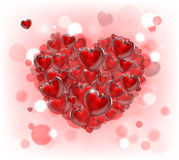 Valentinsgrußtagesherzhintergrund lizenzfreie abbildung