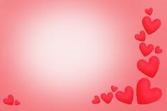 Valentinsgrußtagesherzliebeselement für Hintergrund Lizenzfreies Stockbild
