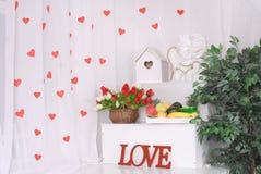 Valentinsgrußtageshintergründe Lizenzfreies Stockbild