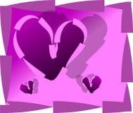 Valentinsgrußtageshintergrund Lizenzfreies Stockfoto