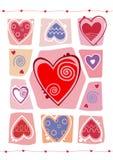 Valentinsgrußtageshintergrund mit Innerem lizenzfreie abbildung