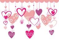 Valentinsgrußtageshintergrund mit Innerem Lizenzfreies Stockfoto