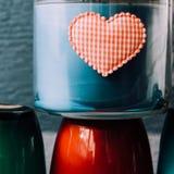 Valentinsgrußtageshintergrund mit Innerem Lizenzfreie Stockfotografie