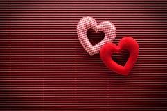 Valentinsgrußtageshintergrund mit Innerem Stockfoto