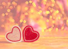 Valentinsgrußtageshintergrund mit Inneren stockfoto