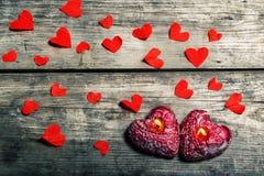 Valentinsgrußtageshintergrund mit Inneren Stockbilder