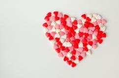 Valentinsgrußtageshintergrund mit Inneren Stockfotografie