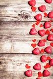 Valentinsgrußtageshintergrund mit Inneren Mit Kopienraum Mit Zinn Lizenzfreies Stockfoto